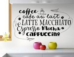 Small Picture Cafe Style Coffee YOUR DECAL SHOP NZ Designer Wall Art Decals