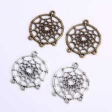 Dream Catchers Wholesale Vintage Dream Catcher Charms for Jewelry Making Diy Metal Zinc 40