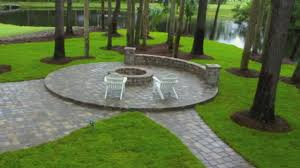 Seating Wall Blocks Paver Patio Designs With Fire Pit Patio Ideas And Patio Design