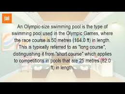 how long is an olympic swimming pool