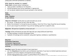List Of Sampleves For Resume Teachers Job Resumes In Freshers
