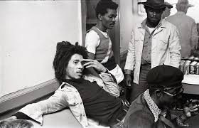 Bob Marley and the Wailers at Paul's Mall: Marley backstage with Carlton  Barrett, Aston Barrett, and Joe Higgs, July 1973