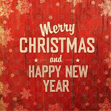 merry christmas and happy new year greeting card with snowflakes on red wooden background vector to zoom