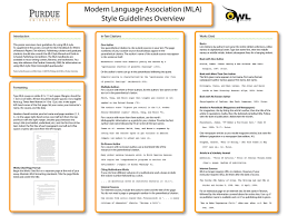 The Purdue Owl Mla Classroom Poster Writing A Term Paper