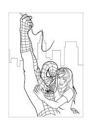 Spiderman Spiderman Helpt Een Meisje Spiderman Kleurplaten