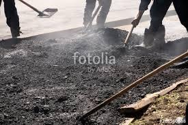 Road Builders Laid Asphalt Teamwork Asfaltobetonnye Work On