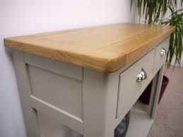 painted console table. Aspen Painted Oak Sage Grey 2 Drawer Console Table