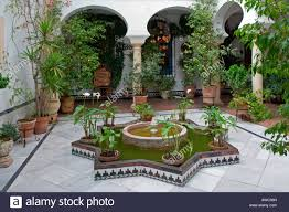 Courtyard Plants Design Cordoba La Juderia Courtyard With Flowers And Plants Stock