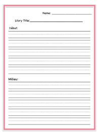 Story Template Beginning Middle End French Beginning Middle And End Story Writing Template With Primary Lines