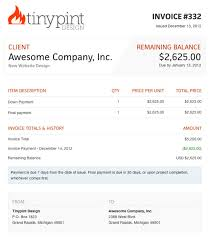 Web Development Invoice Web Design Invoice Template Bonsai