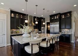 light granite countertops dark cabinets and floors