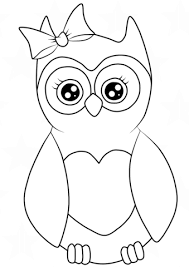 Cutest Cartoon Owl Coloring Page Free Printable Coloring Pages