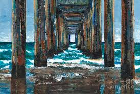 ocean painting pier one by frances marino