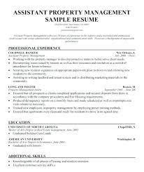 Property Manager Resume Samples Sample Assistant Property Manager