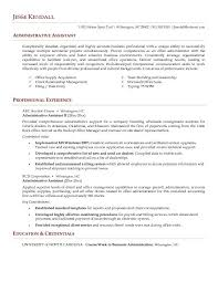 Administrative Assistant Objective Resume Samples Free Resume Templates Administrative Assistant