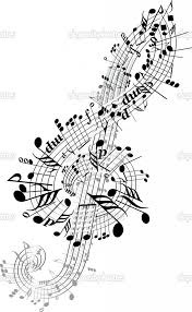 Music Notes Hudba Hanka Hudba Muzikál A Houslový Klíč