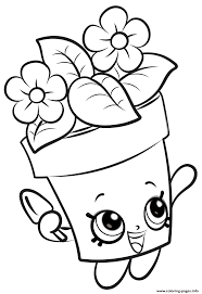 Small Picture Shopkins Flowers New Coloring Pages Printable