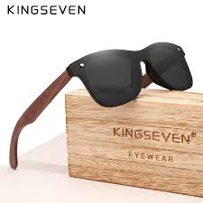 KINGSEVEN 2019 <b>Wood Men Sunglasses</b> Polarized Wooden Sun ...