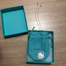 tiffany co necklace heart tag key pendant measurements 18 inch long heart pendant dimensions 2cm condition 8 8 10 color material silver
