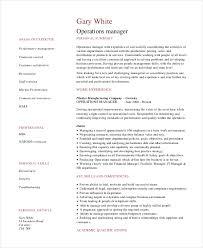 Sample Manager Resume Jmckell Com