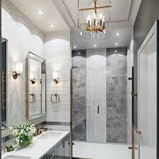 brass chandelier design ideas for bathroom lighting