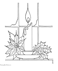 Small Picture Printable Christmas coloring pages Candles and more