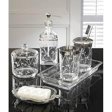 mercury glass bathroom accessories. Alhambra Etched Glass Bath Set Sold Out Bathroom Accessories Mercury