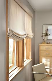 Relaxed Roman Shades with Valance