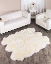 Faux Bearskin Rug Modren White Fur Shag Rug G Inside Decorating Ideas