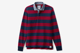 land s end long sleeve rugby shirt