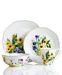 Sunflower Themed Kitchen Decor Sunflower Ceramic Dinnerware Set Pattern Dinnerware Patterned