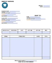invoice template word free dental invoice template excel pdf word doc