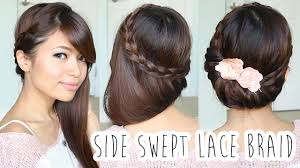 Lace Hair Style foldover lace braid updo hairstyle hair tutorial youtube 2911 by wearticles.com