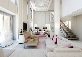 White Living Room Decorating Minimalist Living Room Decor Inspiration Looks Very Spacious And