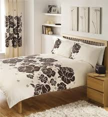king size duvet set brown cream flowers new quilt cover bed set