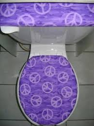 elongated toilet seat cover set