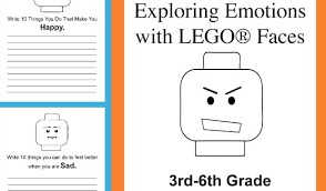 Lego Feelings Chart Exploring Emotions With Lego Faces 3rd 6th Grade Set