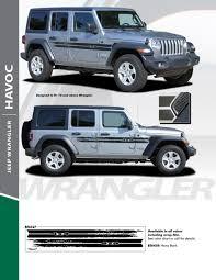 2020 Jeep Colors Chart 2018 Jeep Wrangler Stripes Havoc Side Kit 2019 2020 Avery Supreme Or 3m 1080 Wrap Vinyl