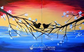date night lovebird wine paint uncorked canvas seattle seattle 9 march