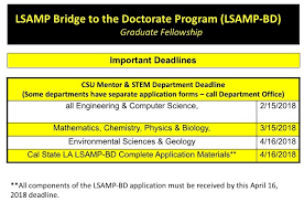 do csu need letter recommendation 2018 2020 csula lsamp bridge to the doctorate california state