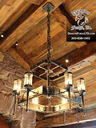 great northern lodge modern rustic chandelier kitchen