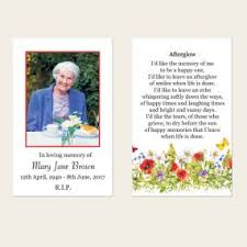 Funeral Remembrance Cards Memorial Cards