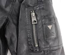 guess men s leather jacket size l