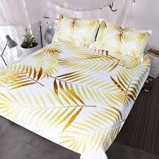 how to put a duvet cover on gallery blessliving modern palm leaf bedding set tropical
