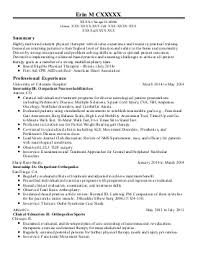 occupational therapy resume new grad best occupational therapist