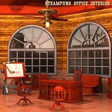 steampunk office. steampunk office interior s
