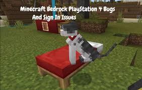 common minecraft bedrock playstation 4