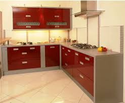 Red Painted Kitchen Cabinets Kitchen Rustic With Breakfast Bar Interior Design Of Small Kitchen