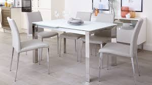 frosted glass dining table with design 19