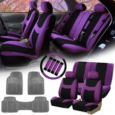 car floor mats for women. Fh Group Purple Black Car Seat Covers For Auto Wsteering Cover Floor Mats Women